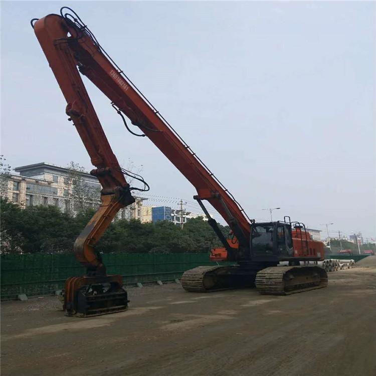 巩义加长臂挖掘机租赁